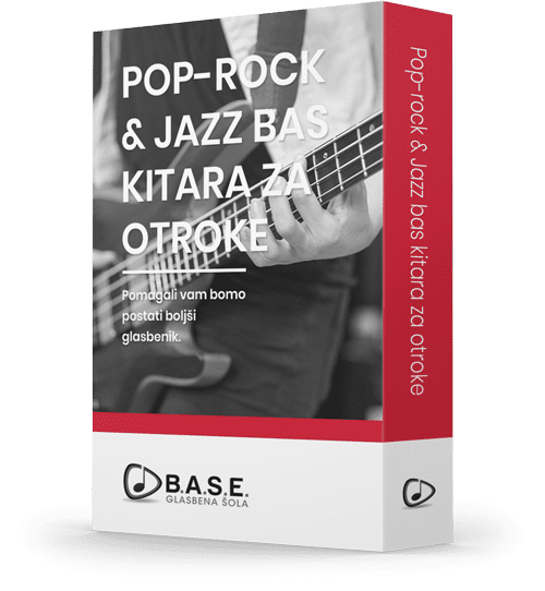 Program učenja Pop-rock in jazz bas kitara za otroke